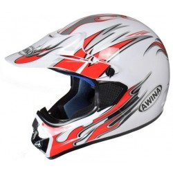 HELMET AWINA XL WHITE-RED...